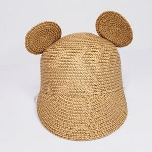 Toddler Straw Sun Cap with Ears